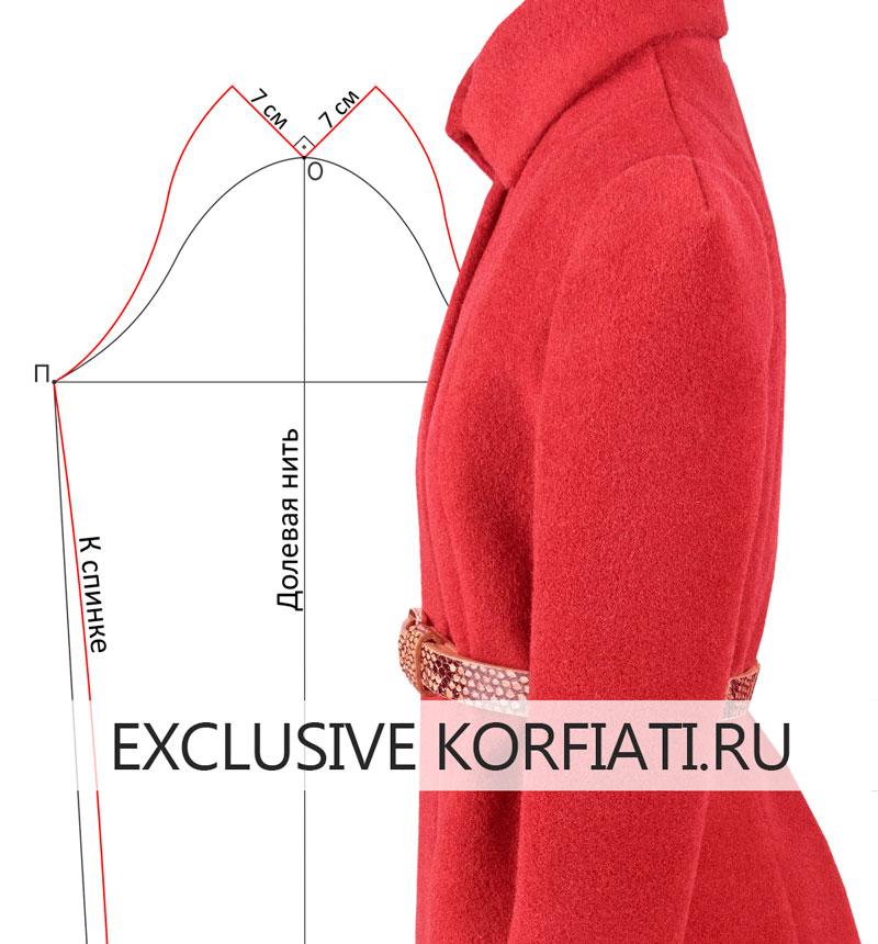 Пальто на масштабном манекене - вид сбоку фото