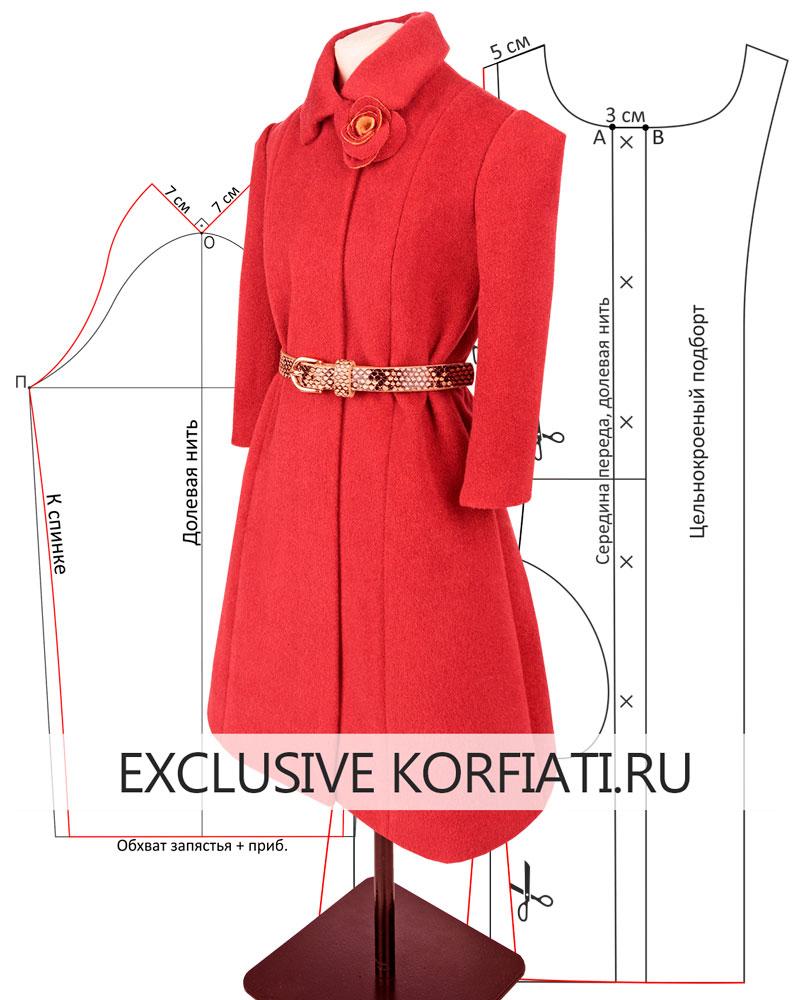 Макет пальто с рукавами на масштабном манекене фото