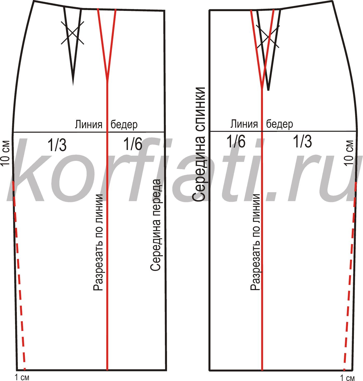 Как сшить юбку из трикотажа 11