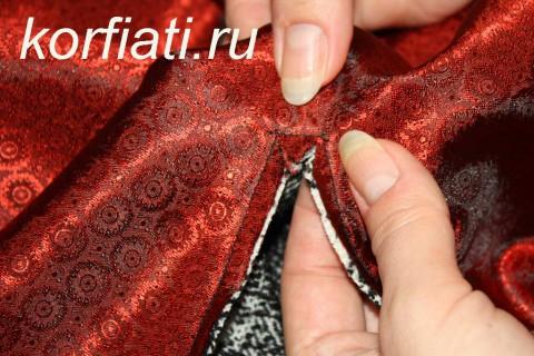 Мастер-класс по шитью юбки-колокол. Подготовка к втачиванию молнии