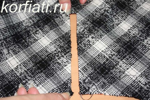 Мастер-класс по шитью юбки-колокол. Обработка рамки