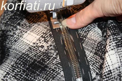 Мастер-класс по шитью юбки-колокол. Лапка для притачивания молнии