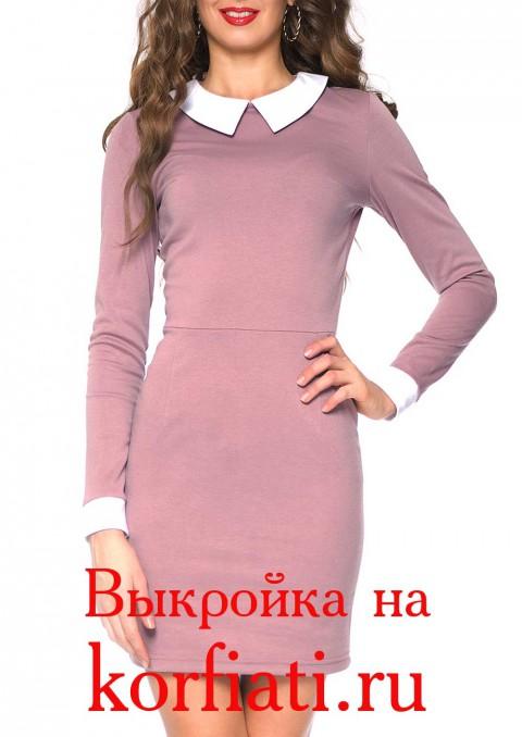 Платье с белым воротником