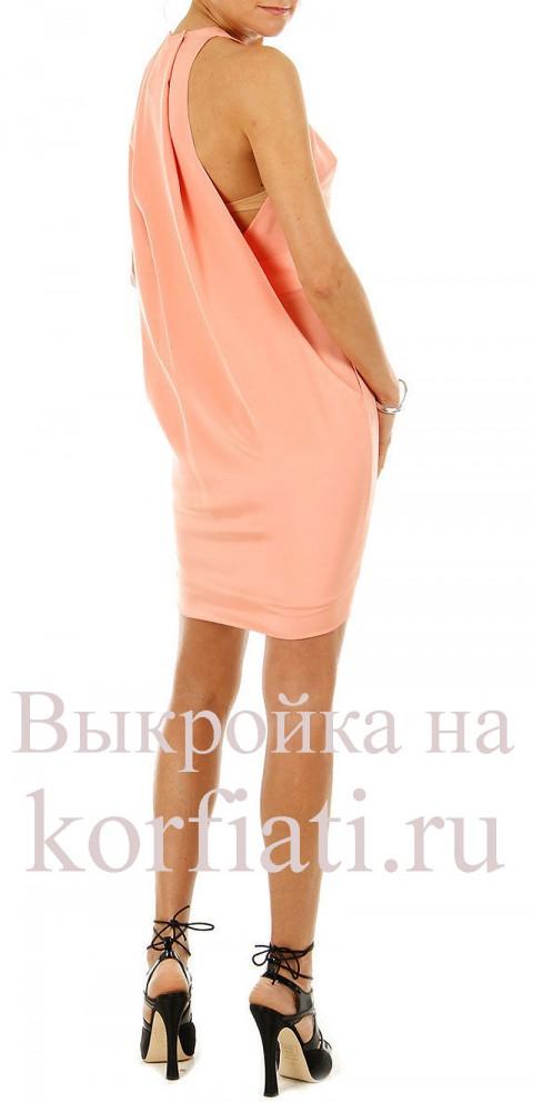 Выкройка модного платья