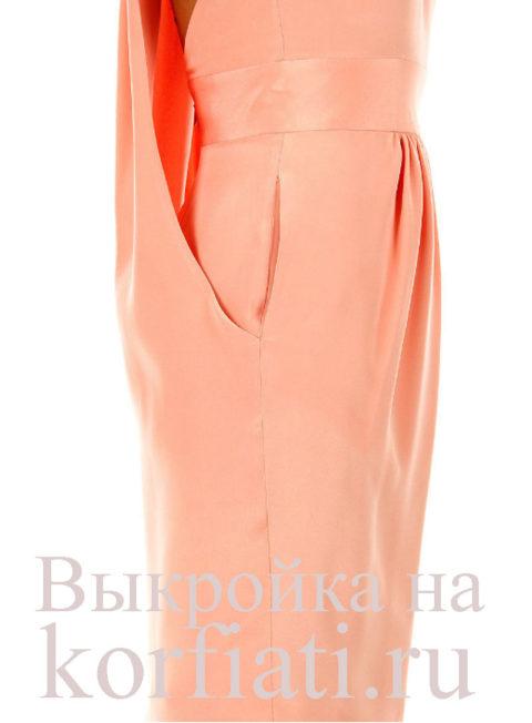 Вид модного платья фото бок