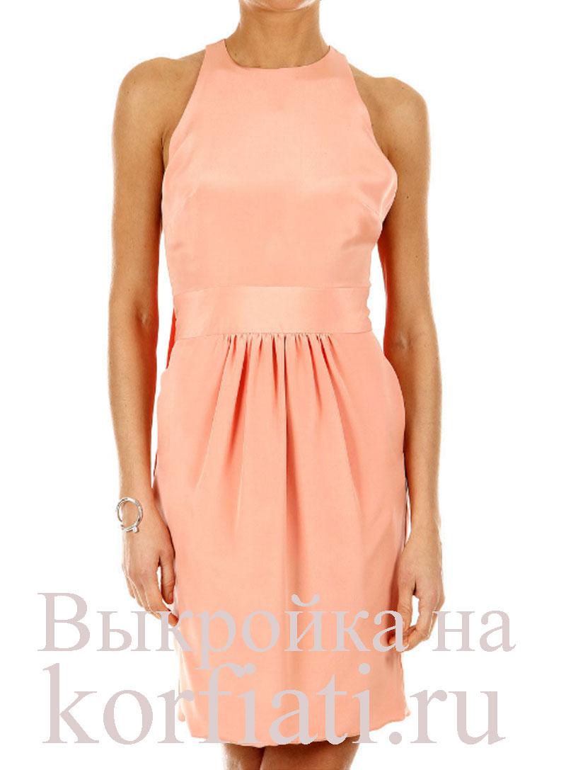 70c5e7f82e7 Выкройка модного платья от ШКОЛЫ ШИТЬЯ Анастасии Корфиати