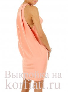 Выкройка модного платья бок