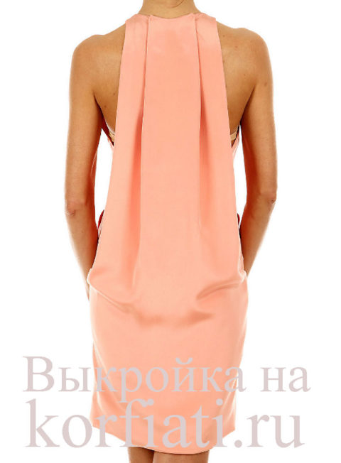 Выкройка модного платья фото спинка