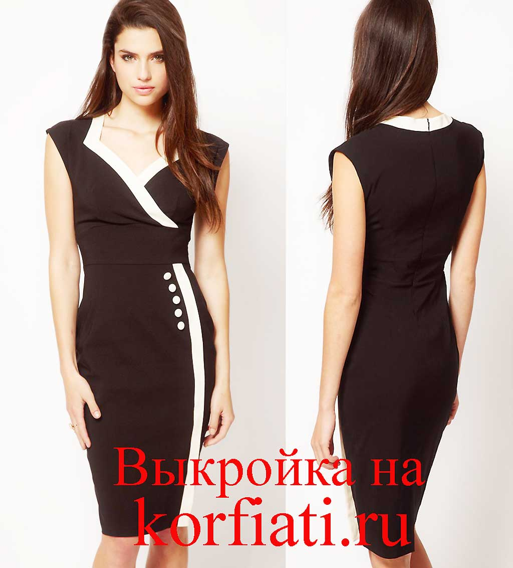7144197d956 Как сшить черное платье - выкройка от А. Корфиати