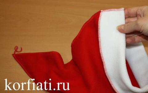 Новогодняя шапка - готовое изделие