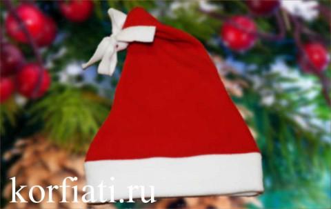 Новогодняя шапочка - готовое изделие