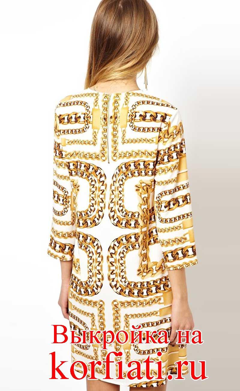 Бесплатная выкройка платья А-силуэта / Простые выкройки