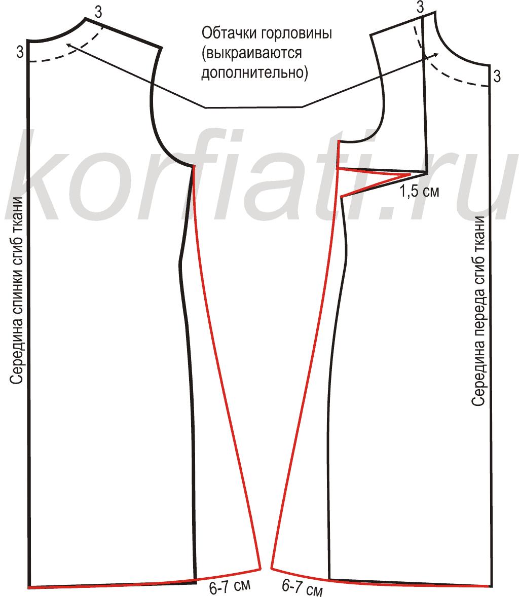Как расширить горловину на выкройке фото 40