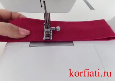 Пошив галстука - заключительный этап