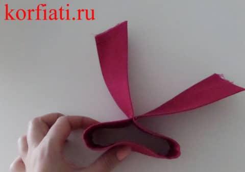 Как сшить галстук-бабочку промежуточный этап