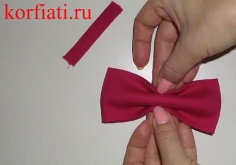 Как сшить галстук-бабочку - создание формы