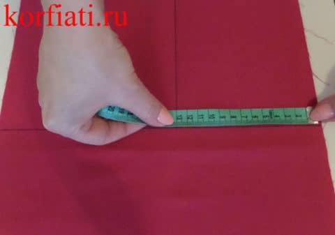 Разметка ширины галстука-бабочки