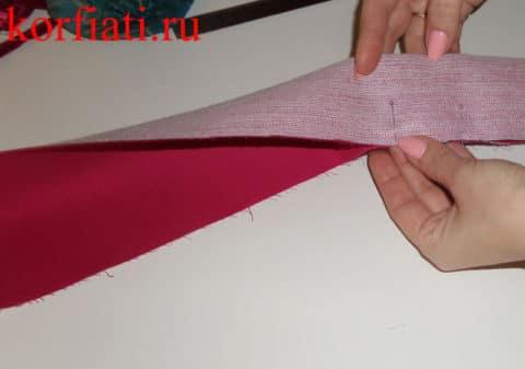 Как сшить галстук-бабочку - пошив