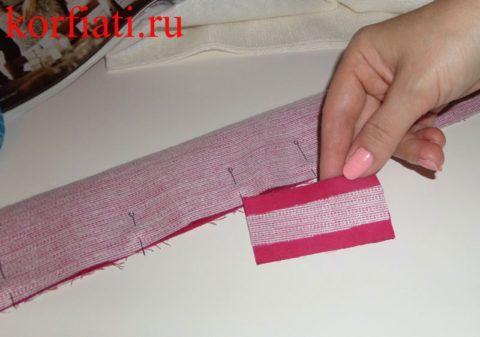 Как сшить перемычку для галстука-бабочки