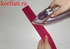 Как сшить галстук-бабочку утюжка