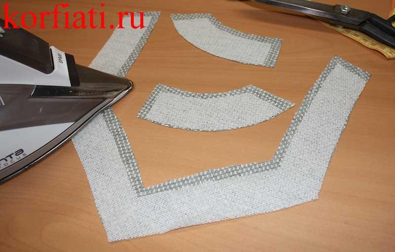 Подкройная обтачка - обработка горловины платья