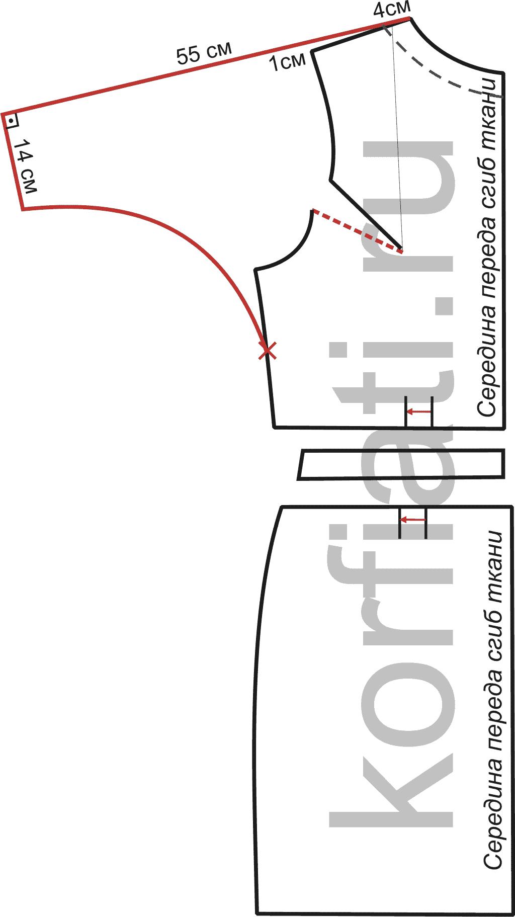 Построение выкройки плеча платья фото 349