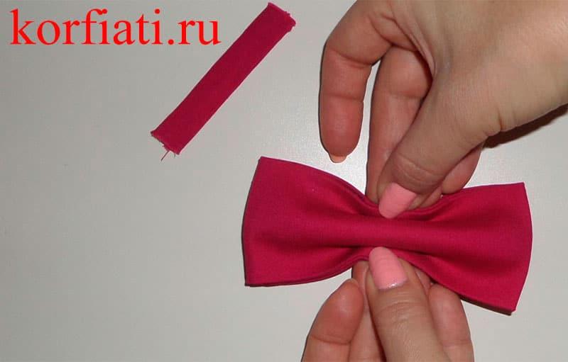Как сшить галстук-бабочка