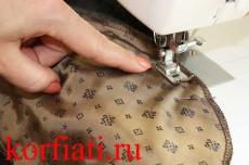 Карман в шве - стачивание мешковин кармана