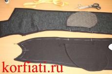 Детали пальто и мешковин карманов