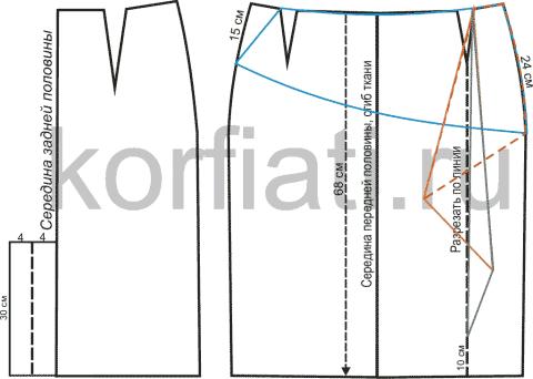 Как сшить юбку в клетку