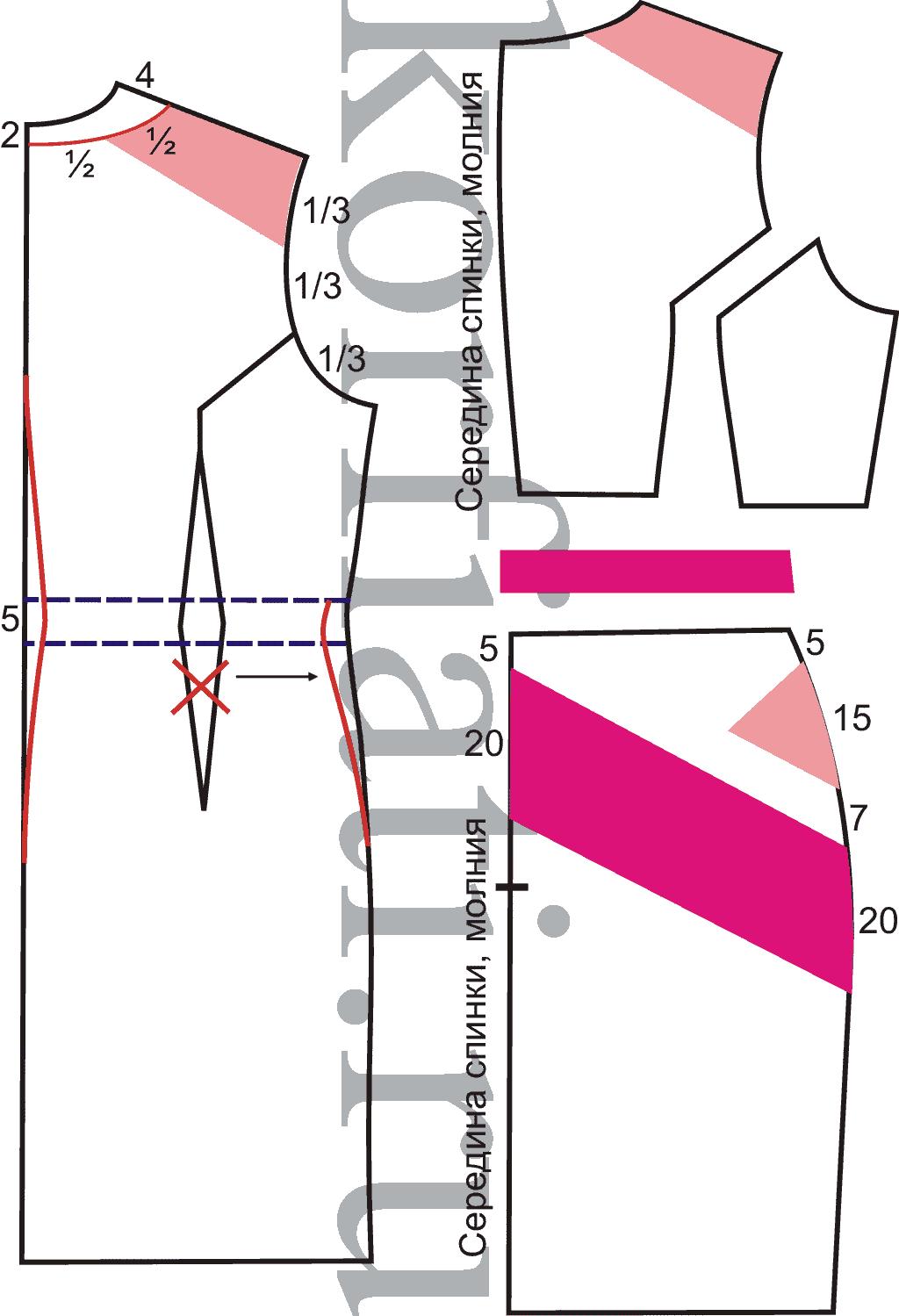 Прямое короткое платье выкройка