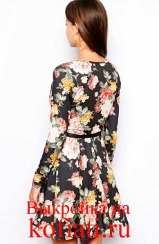 Выкройка платья с запахом - вид спинка