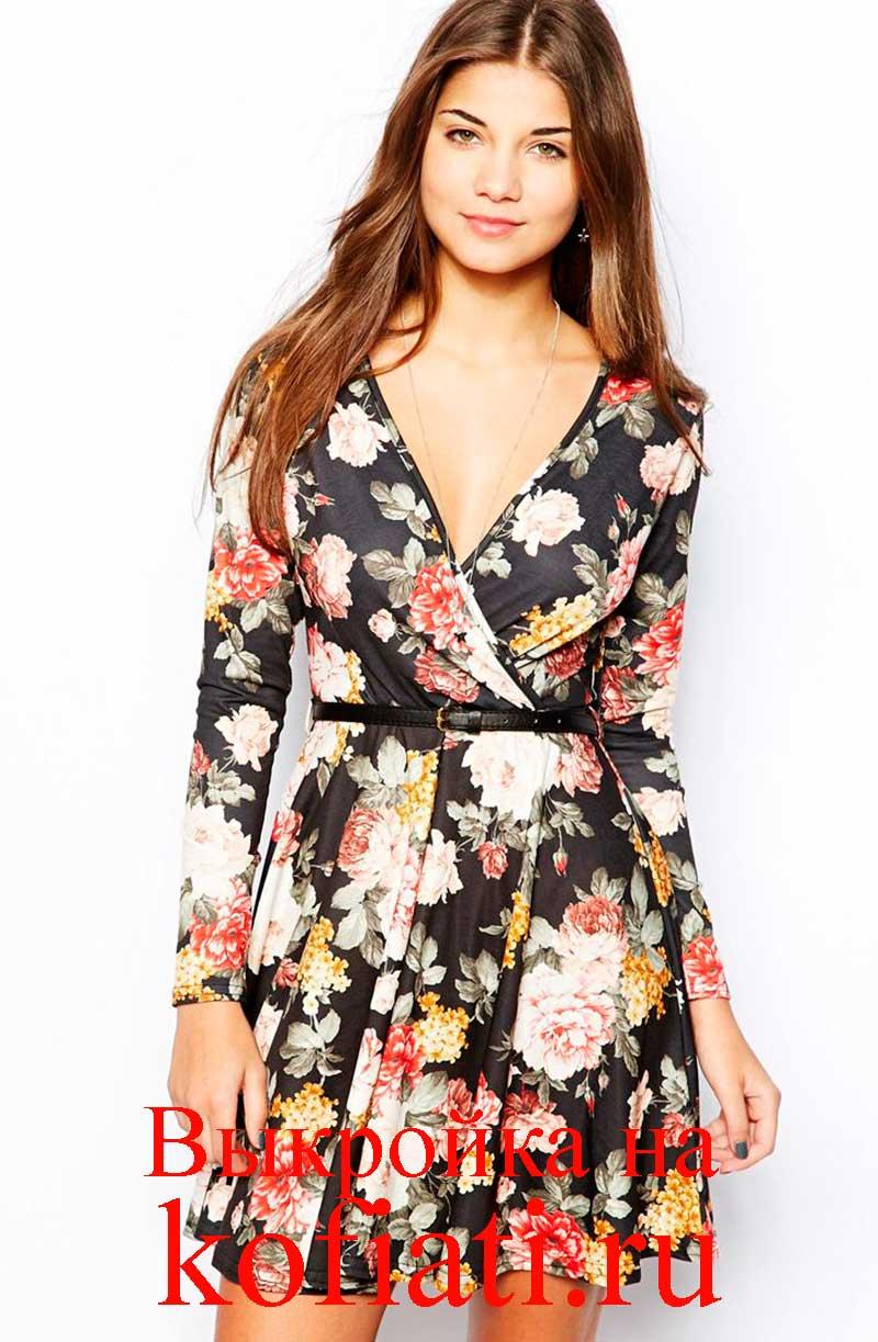 b8eb90656186bf7 Выкройка платья с запахом - от ШКОЛЫ ШИТЬЯ Анастасии Корфиати