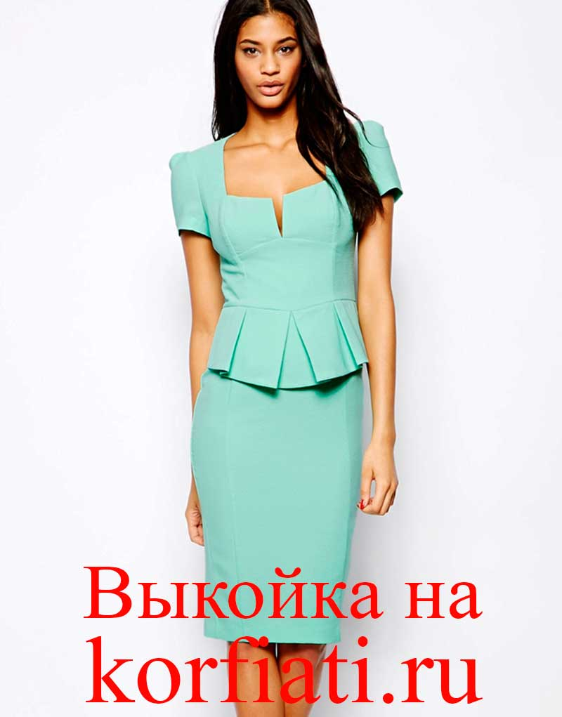 Платье а силуэта корфиати