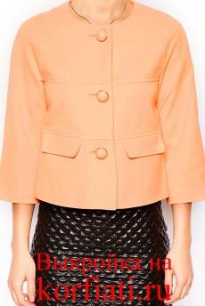 Выкройка короткого пиджака - перед