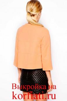 Выкройка короткого пиджака - спина