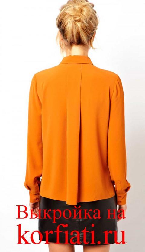 Как сшить спинку блузки