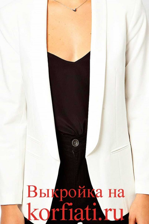 Белый пиджак полочка