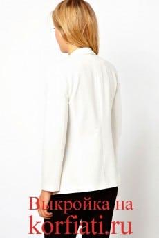 Белый пиджак спинка