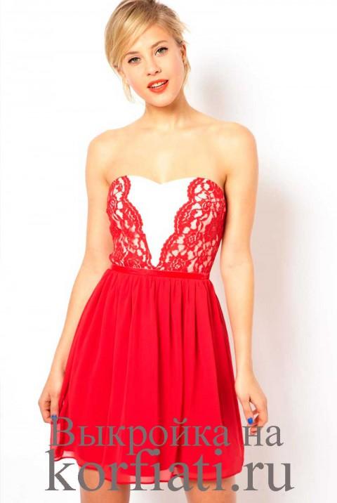 – шьем изящное платье без рукавов