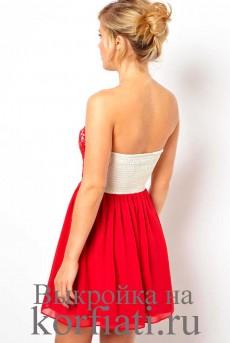 Шьем платье без рукавов - спинка