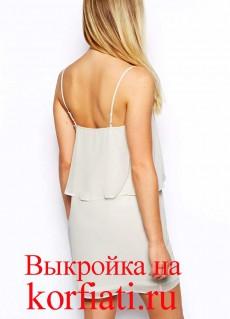 Простое платье из шифона - спинка