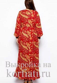 Платье в стиле бохо - спина