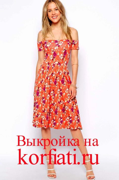 Платье для отпуска - вид спереди