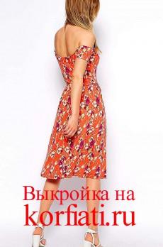 Платье для отпуска - спинка