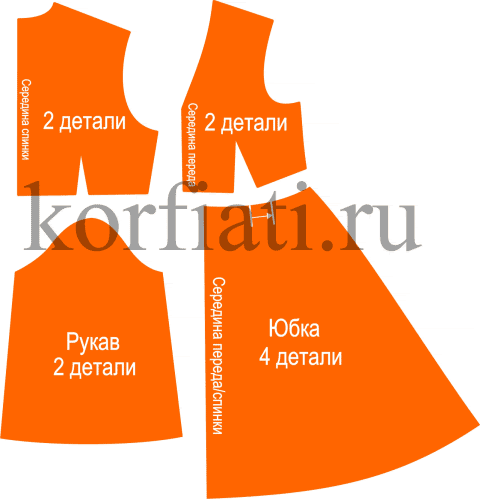 Платье в стиле бохо - детали кроя
