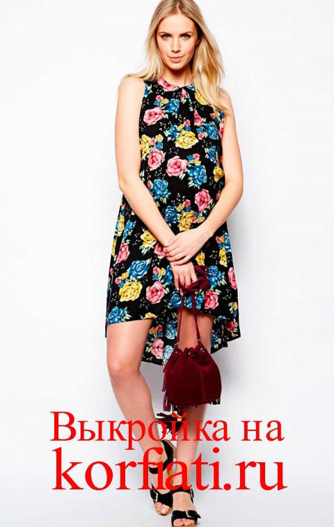 Асимметричное платье для беременных