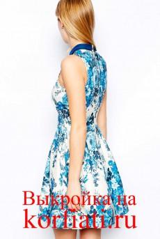 Выкройка платья с американской проймой - спинка