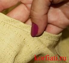 Обработка косой обтачкой - мастер-класс по шитью