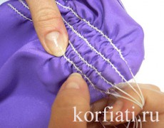 Рукав на резиновых жилках